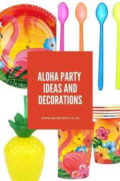Create an Aloha bright coloured themed party this year for a birthday or another special occasion with our range of tableware, decorations, balloons, cups, plates and so much more. Inflatable Palm Tree, Tiki Bar Signs, Party Themes, Party Ideas, Aloha Party, Pink Plastic, Summer Parties, Party Packs, Latex Balloons