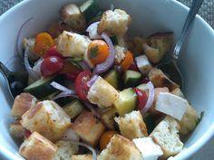 Panzanella (Tomato & Bread Salad) @ http://littleladybigappetite.blogspot.com/2012/07/panzanella.html