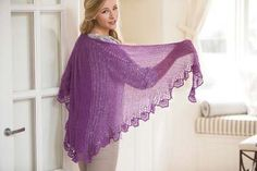 This large crochet shawl is light-weight and elegant. Crochet So Lovely: Lace Crochet Shawl