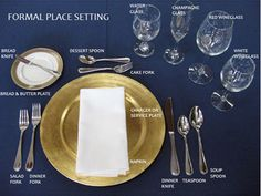Table setting rules...All kids need to know proper etiquette!!