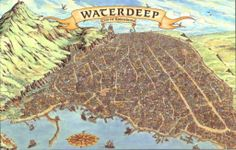waterdeep map maps fantasy forgotten realms splendors 5th edition cities portal tower dragons candlekeep dungeons town yawning towns region pnp