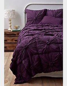 Anthropologie Rosette Bedding Purple Twin in Home & Garden, Bedding, Comforters & Sets | eBay: On sale for 99.99!