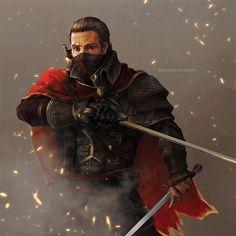Shay By Sunsetagain (Assassin's Creed) Character Concept, Character Art, Character Design, Concept Art, D D Characters, Fantasy Characters, Assassin's Creed Black, Assassins Creed Rogue, Comics Story