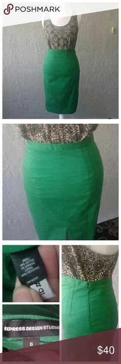 **FLASH SALE** Bundle with a top for a $30 total and get $3.99 shipping.   Stylish skirt with detail over the hips and a slit in the back. It is in perfect condition. Dress it with a detailed top like in the picture or more simpler with a classic white button down top.   PRICE is FIRM. express  Skirts Pencil