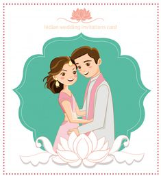More than 3 millions free vectors, PSD, photos and free icons. Exclusive freebies and all graphic resources that you need for your projects wedding illustration Cute Indian Couple For Wedding Card