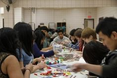 Eau Claire YMCA was buzzing with over 100 high school students this past Friday night as YMAP programs celebrated an awesome start to the year! YMAP (aka YMCA Achievement Program) is an after-school program for immigrant high school students to explore a wide variety of topics from financial literacy, to resume building, to how we can become global citizens working for social justice.