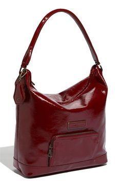Longchamp  Legende Verni  Patent Calfskin Leather Hobo available at   Nordstrom Longchamp 56389bfd89bcc