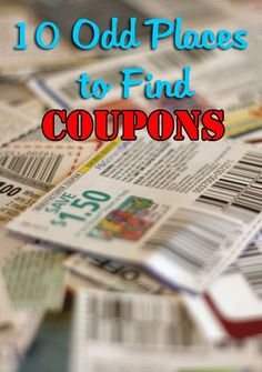 10 Odd Places to Find Coupons. Where to find coupons other than the Sunday papers and common printable coupon websites.