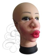 Latex Half Face Puckered Lips Mask for Comedy Funny Homour People Stag Hen Fancy Dress Latex Kitsch, Stag Fancy Dress, Funny Lips, Latex Halloween Masks, Harajuku, Animal Noses, Stag And Hen, Bird Masks, Lip Mask