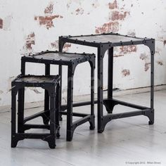nest of tables industrial furniture vintage buy industrial table vintage coffee tables buy industrial furniture
