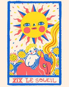 Le Soleil 🌞🌞🌞 my ninth Tarot card 😌💖✨ #illustration #ilustracion #art #digitalart #drawing #doodle #illustrator #illustrationartists…