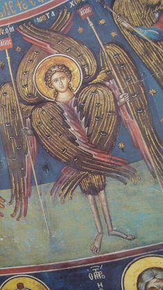 Heaven and Hell- Cherubim Byzantine Icons, Byzantine Art, Religious Icons, Religious Art, Order Of Angels, Seraph Angel, Medieval, Cemetery Angels, Archangel Michael