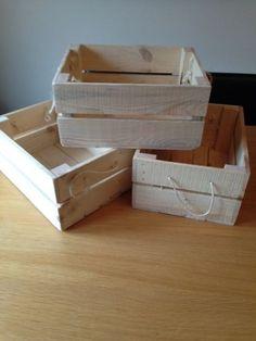 Wood Hamper Crate / Bushel Box, Storage Box / Gift Hamper Medium Rectangular