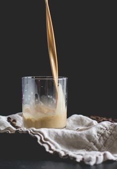 A creamy coffee and bourbon cocktail with maple syrup and nutmeg. It's the perfect addition to your holiday feast!
