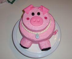 Pig birthday cake - Pig cake