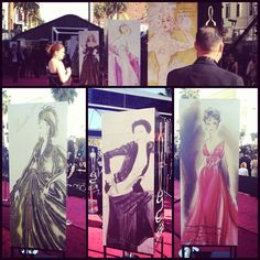 COSTUME DESIGN SKETCHES LINING THE OSCARS RED CARPET THIS YEAR  Photo by theacademy
