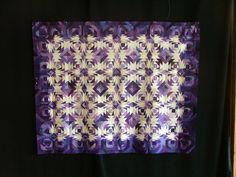Purple paper pieced by Cathie Marohn