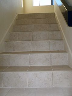 Tile On Stairs Can Be A Beautiful Durable Alternative