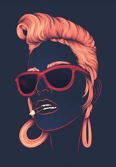 30 amazing digital illustrations by patrick seymour inspiration graphic des Patrick Seymour, Design Pop Art, Street Art, Portrait Studio, Foto Top, Portraits, Arte Pop, Art Graphique, Design Inspiration