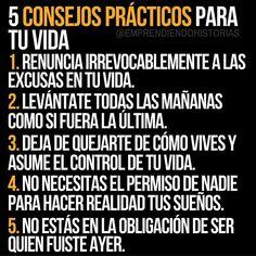 5 #Consejos Efectivos para la vida.