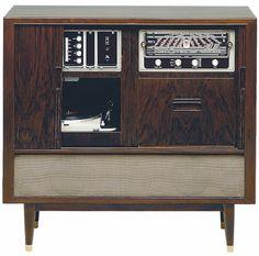 Grundig meuble stereo avec tourne disque radio - Meuble radio tourne disque grundig ...