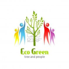 Eco Green icon. Tree and people. Vector design. Stock Photo - 12810992