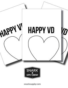 VD Test - threesome – Snark Supply Co. 3-pack of Snarky Valentine's Day Cards