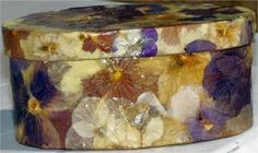 decoupage boxes - projects shown include pressed flowers and fall leaves - these are really nice.
