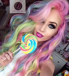 40 amazing ideas for Mermaid Hair - Hair Style 2019 Dye My Hair, New Hair, Cool Hair Dyed, Pelo Multicolor, Coloured Hair, Unicorn Hair, Real Unicorn, Cool Hair Color, Gorgeous Hair