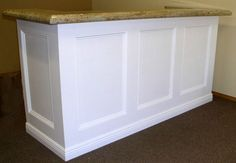reception desk - turn our existing into something updated