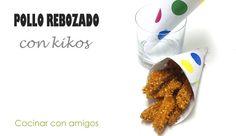 Pollo rebozado con maíz frito   Cocinar en casa es facilisimo.com