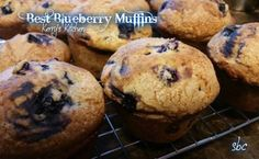 Fresh from my oven!!! These are the best muffins ever!! Slightly crunchy on the top and soft & moist inside!! Not too sweet and you really taste the blueberry...with a hint of cinnamon! Best Blueberry Muffins