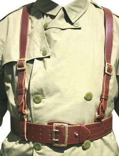 US Officer s Sam Browne Belt in Large Sizes Leather Harness, Leather Belts, Sam Browne Belt, Leather Suspenders, Tactical Belt, Roll Neck Sweater, French Models, Belt Pouch, Leather Projects