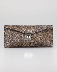 Kara Ross Stretch Prunella Glitter Clutch Bag - Neiman Marcus