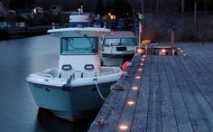 About Boat Dock Lighting thumbnail Dock Lighting, Lighting System, Backyard Lighting, Outdoor Lighting, Image Pinterest, Solar Deck Lights, Lakefront Property, Boat Lift, Boat Stuff