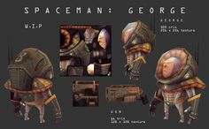 LowPoly, Space man George by DuncanFraser