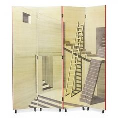 Piero Fornasetti, Folding Screen for Fornasetti Milano, c1955.