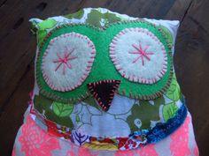 scrappy stuffed owl