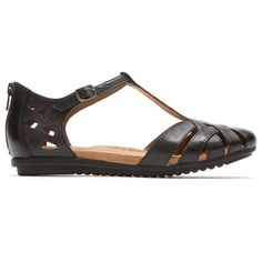 Shop the Cobb Hill® Ireland Fisherman Sandal by Rockport®. A classic T-strap sandal with a distinctly bohemian vibe that's as easy to swoon over as it is to strap on. T Strap Sandals, Dress Sandals, Women's Sandals, Rockport Cobb Hill, Rockport Shoes, Looking For Women, Ireland, Pairs, Heels