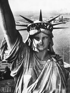 """In October the Statue of Liberty (one of our very beloved historical landmarks) will be closing for yearlong repairs."" #StatueOfLiberty #NewYorkCity"