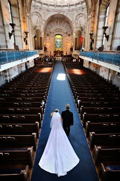 Naval Academy Wedding, Annapolis, MD. By Egomedia Photography. My dad walking me up the aisle