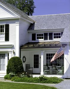 The Josephine Baldwin House - Connor Homes Primitive Homes, Primitive Kitchen, Hamptons House, The Hamptons, Connor Homes, Black Shutters, Outdoor Living, Outdoor Decor, Curb Appeal