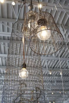 metal wire light