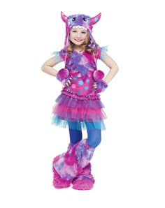 Dizzy Lizzie Purple and Pink Monster Child Costume from Spirit Halloween on Catalog Spree, my personal digital mall.