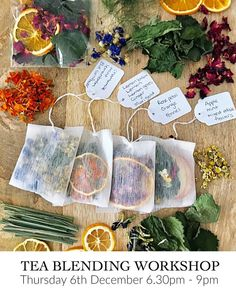 Organic Tea Blending Workshop in Sydney with Little Lane Workshops. Northern Beaches Creative art craft and lifestyle workshops. Diy Cadeau Noel, Homemade Tea, Tea Packaging, Flower Tea, Tea Blends, Tea Recipes, Party Recipes, High Tea, Tea Time
