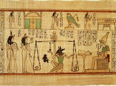"""Section from the """"Book of the Dead"""" of Nany, Third Intermediate Period, Dynasty 21, reigns of Psensennes I–II, ca. 1040–945 B.C.  Egyptian; Western Thebes  Painted and inscribed papyrus"""