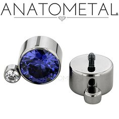 Threaded Gem Clusters in ASTM titanium with CZ and synthetic Tanzanite gemstones Third Eye Piercing, Body Piercing, Piercings, Tanzanite Gemstone, Gemstones, Body Jewelry, Jewellery, Jewelry Watches, Jewelry Design