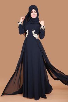 İkbal Şal Kombinli Şifon Abiye Laci Ürün kodu: ECH7094 --> 109.90 TL Muslim Dress, Hijab Dress, Abaya Fashion, Muslim Fashion, Abaya Designs, The Dress, Gowns, Clothes For Women, Pretty