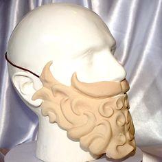 Wizard /Pirate Beard black white custom latex Greek god Latex Allergy, Roman Emperor, Beard No Mustache, Hand Cast, Greek Gods, Larp, Pirates, Cosplay, Black And White