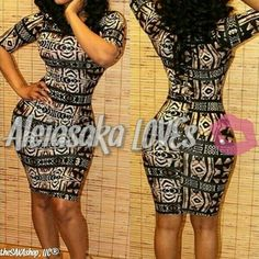 Women's Sexy Printed Short Sleeve Jewel Neck Bodycon Dress (knee-length)     *Sizes come ONE size smaller | Shop this product here: spreesy.com/aleiasaka_loves/15 | Shop all of our products at http://spreesy.com/aleiasaka_loves    | Pinterest selling powered by Spreesy.com
